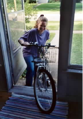 Susan and her bike